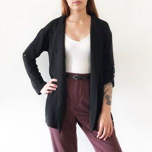 Jackets & Blazers - Black lightweight oversized blazer